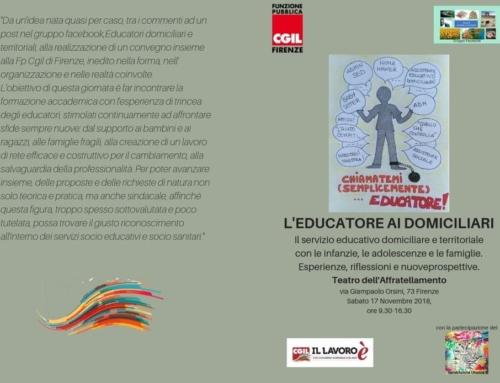 """""""L'educatore ai domiciliari"""" sabato 17 novembre al Teatro Affratellamento"""