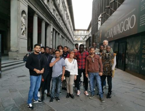 20 migranti vittime di sfruttamento in visita agli Uffizi con la Cgil