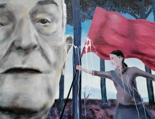"""Imbrattato il murale per Silvano Sarti, la Cgil: """"Fatto grave"""""""