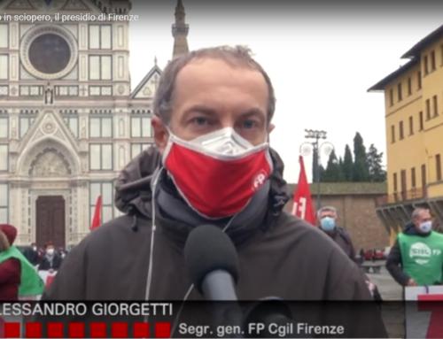 Pubblico impiego in sciopero, il presidio di Firenze