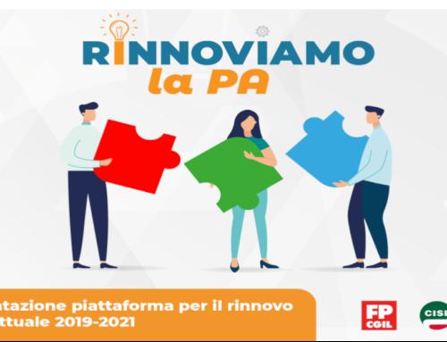 Assemblee di consultazione sulle piattaforme per il rinnovo dei contratti del pubblico impiego per il triennio 2019-2021
