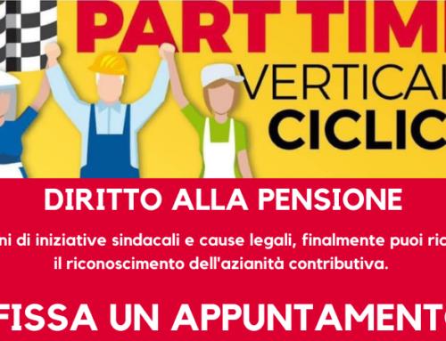 Diritto alla pensione per i part time ciclici e verticali.
