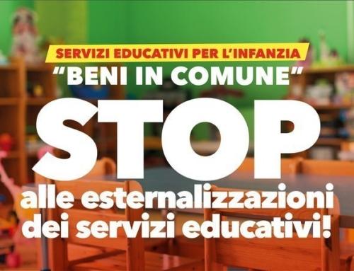 STOP alle esternalizzazioni dei servizi educativi!
